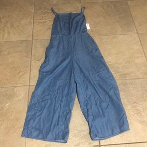 Old Navy women's - small / tall chambray jumpsuit